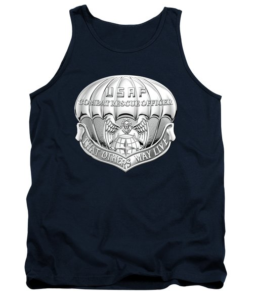 U. S.  Air Force Combat Rescue Officer - C R O Badge Over Blue Velvet Tank Top by Serge Averbukh