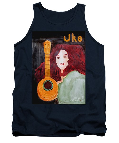 Tank Top featuring the painting Uke by Sandy McIntire