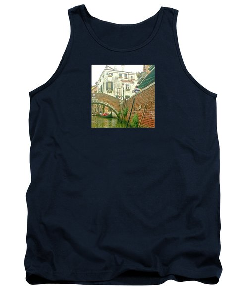 Tank Top featuring the photograph Under The Bridge by Anne Kotan