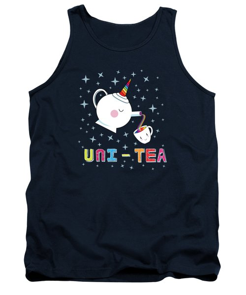 Unitea  Cute Unity Rainbow Tea Pot And Cup Tank Top