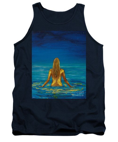 Tank Top featuring the painting Unmasking Series 1 by Leslie Allen
