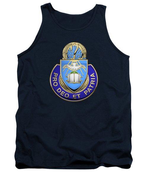 U. S. Army Chaplain Corps - Regimental Insignia Over Blue Velvet Tank Top