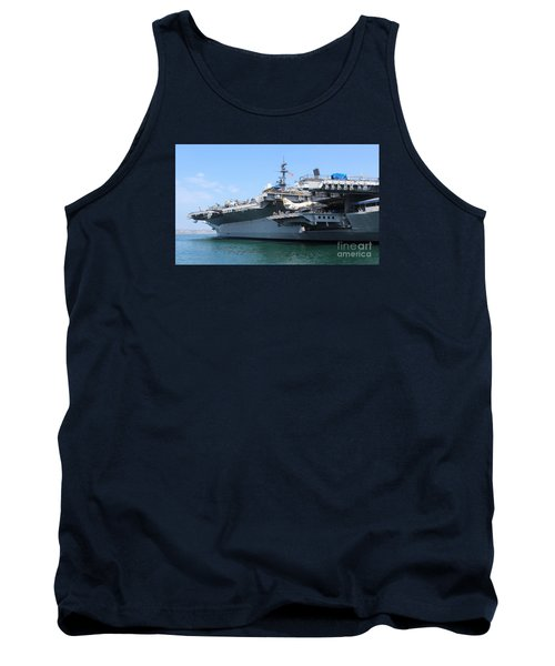 Tank Top featuring the photograph Uss Midway Carrier by Cheryl Del Toro