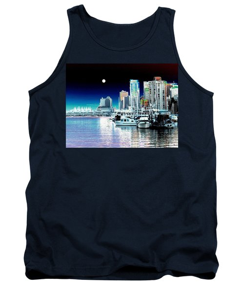 Vancouver Harbor Moonrise  Tank Top