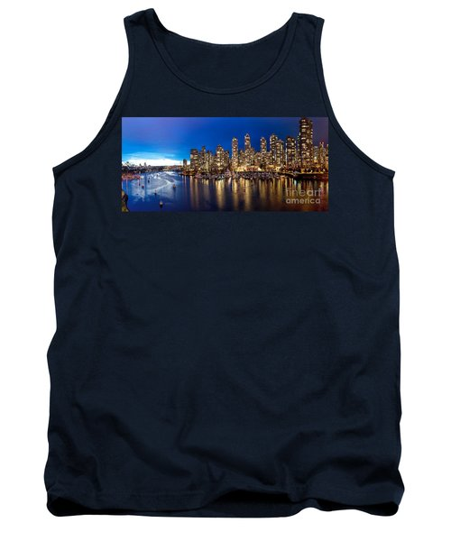 Vancouver Skyline Tank Top by Rod Jellison