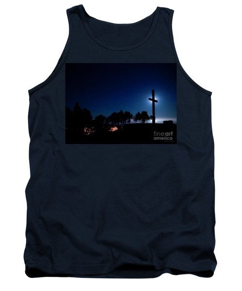 Ventura Ca Cross At Moonset Tank Top