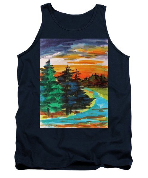 Tank Top featuring the painting Very Quiet by John Williams