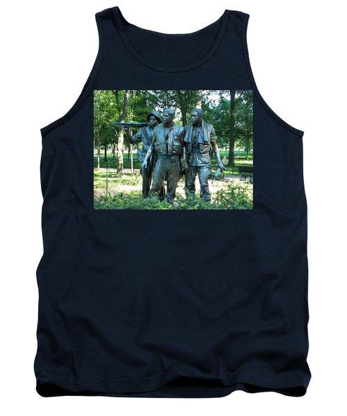 Vietnam War Memorial Statue Tank Top