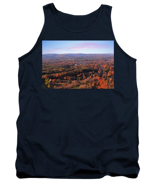 View From Mount Tom In Easthampton, Ma Tank Top