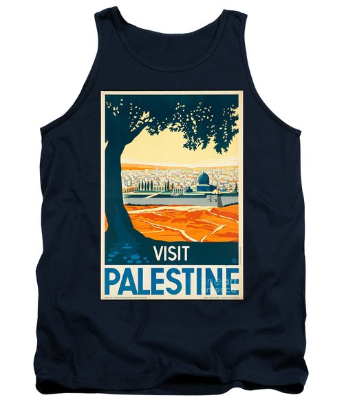Vintage Palestine Travel Poster Tank Top
