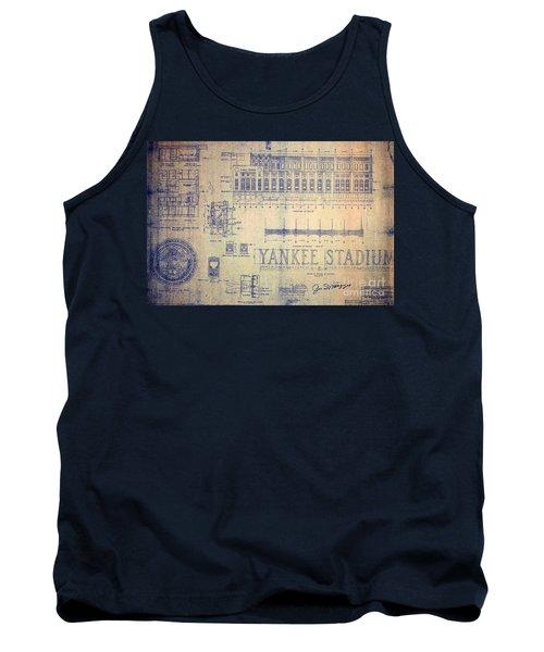 Vintage Yankee Stadium Blueprint Tank Top