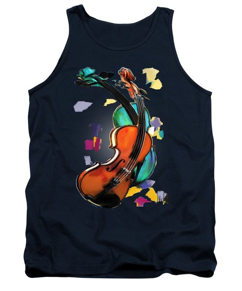 Violins Tank Top by Melanie D