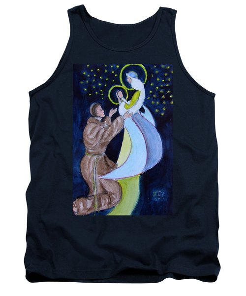Virgin Mary With Jesus And St Anthony Tank Top
