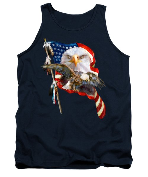 Tank Top featuring the mixed media Vision Of Freedom by Carol Cavalaris