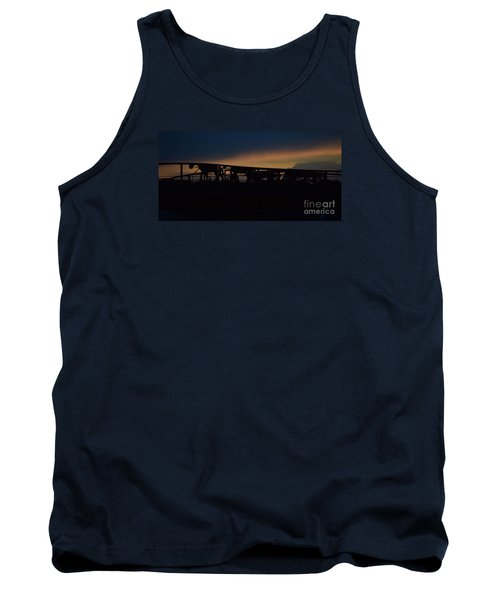 Tank Top featuring the photograph Wagon Train Slihoutte by Mark McReynolds