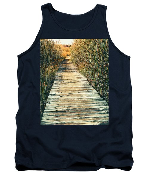 Tank Top featuring the photograph Walking Path by Alexey Stiop