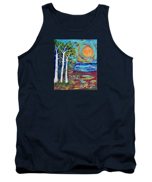 Tank Top featuring the painting Warmth Of The Sun by Haleh Mahbod