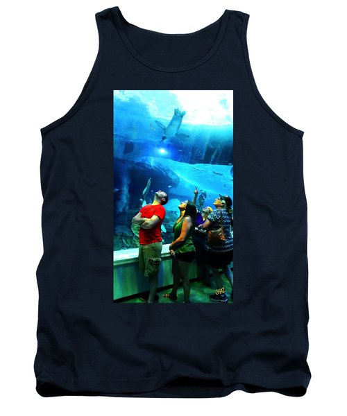 Watching The Penguins Fly Tank Top