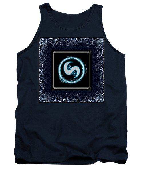 Tank Top featuring the digital art Water Emblem Sigil by Shawn Dall