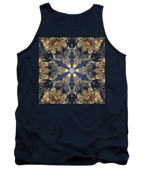 Tank Top featuring the mixed media Water Glimmer 3 by Derek Gedney