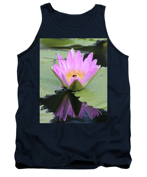 Water Lily With Dragon Fly Tank Top