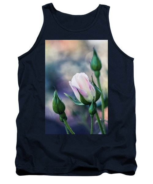 Tank Top featuring the photograph Watercolor Rose by Laura Roberts