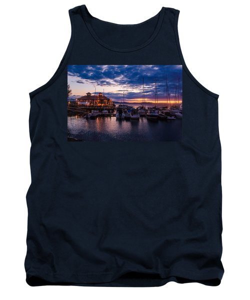 Waterfront Summer Sunset Tank Top