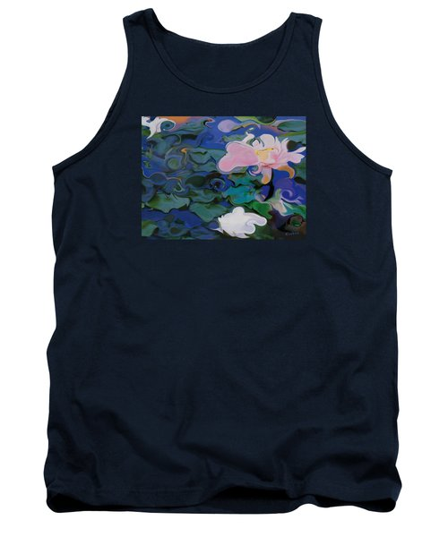 Tank Top featuring the painting Waterlilies Six by David Klaboe