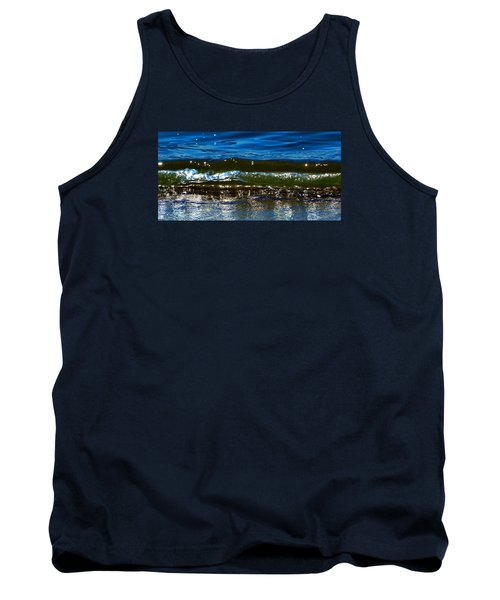 Tank Top featuring the photograph Waves Water Light 2  by Lyle Crump