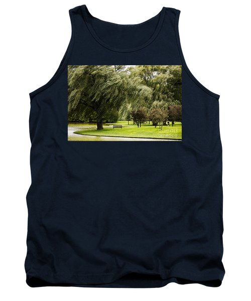 Weeping Willow Trees On Windy Day Tank Top
