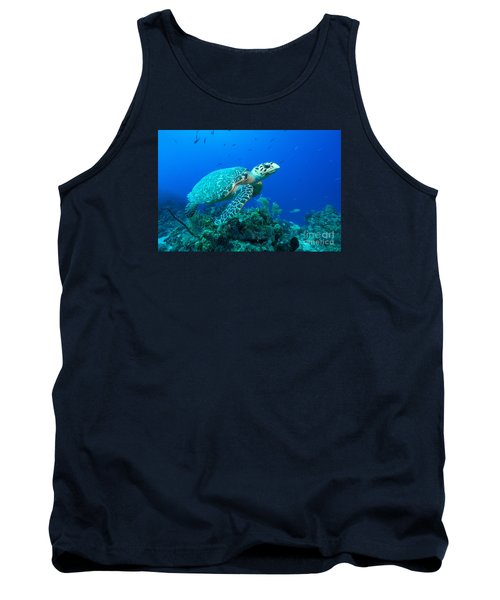 Tank Top featuring the photograph West Caicos Traveler by Aaron Whittemore