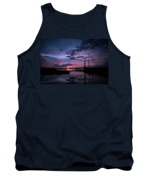 West Lake Toho Blu Indigo Sunset Tank Top