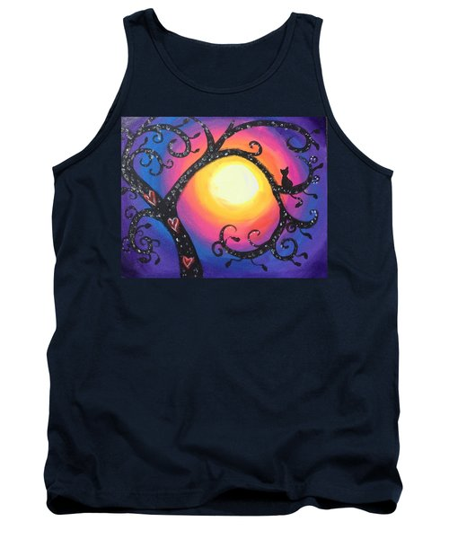 Whimsical Tree At Sunset Tank Top
