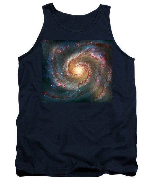 Whirlpool Galaxy  Tank Top by Jennifer Rondinelli Reilly - Fine Art Photography