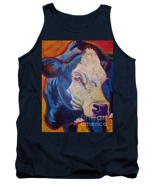Tank Top featuring the painting White Face Cow by Jenn Cunningham