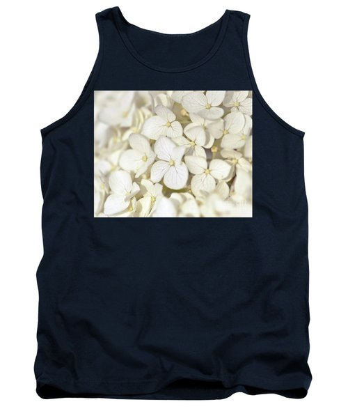Tank Top featuring the photograph White Hydrangea by Kerri Farley