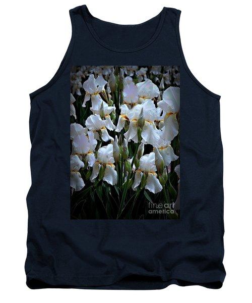 White Iris Garden Tank Top