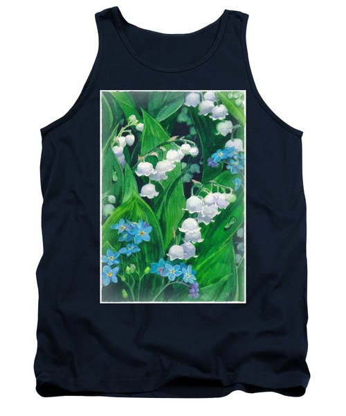 White Lilies Of The Valley Tank Top