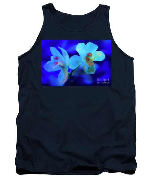 Tank Top featuring the digital art White Painted Orchids by Darleen Stry