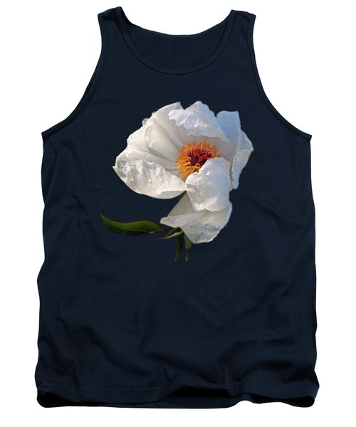 White Peony After The Rain Tank Top by Gill Billington