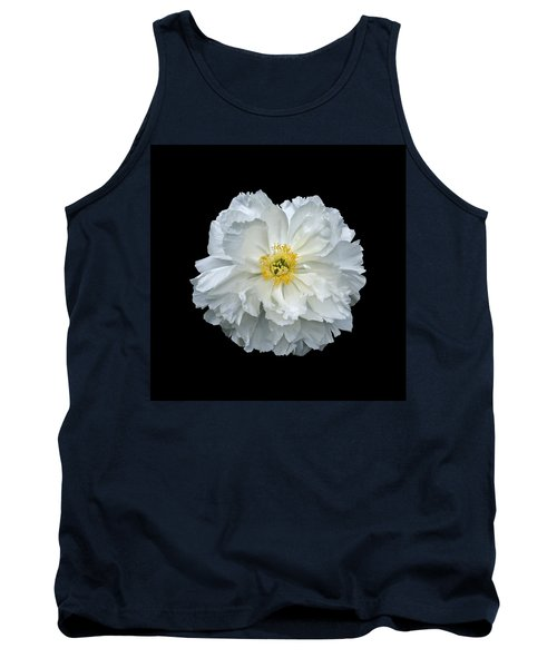 White Peony Tank Top by Charles Harden
