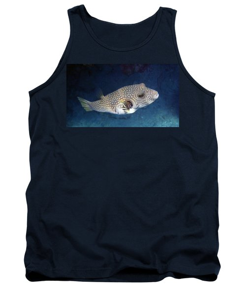 Whitespotted Pufferfish Closeup Tank Top