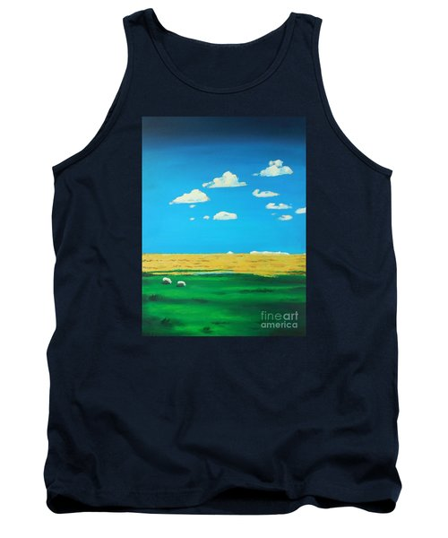 Wide Open Spaces And A Big Blue Sky Tank Top