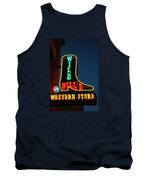 Tank Top featuring the photograph Wild Bills Western Store by James Kirkikis