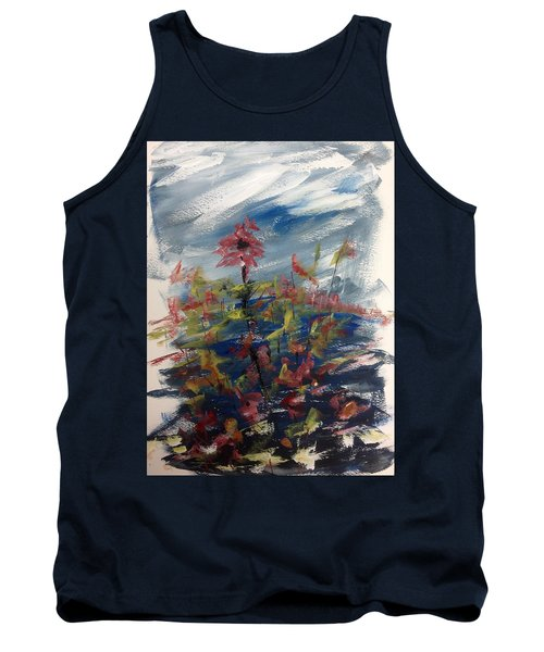 Wild Flowers On An Overcast  Day Tank Top
