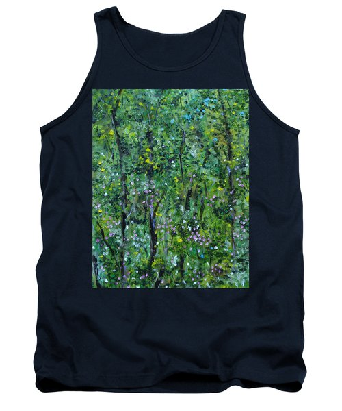 Tank Top featuring the painting Windsor Way Woods by Judith Rhue