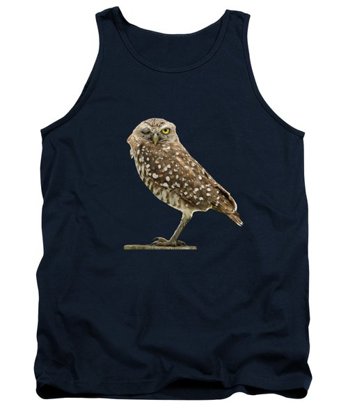 Tank Top featuring the photograph Winking Owl by Bradford Martin