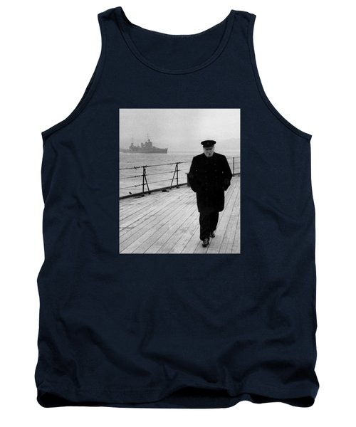 Winston Churchill At Sea Tank Top