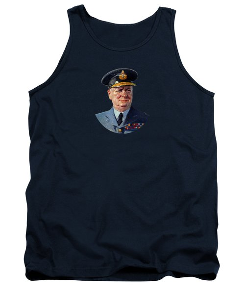 Winston Churchill In Uniform Tank Top