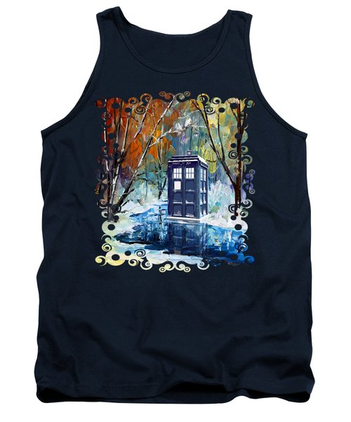 Winter Blue Phone Box Tank Top